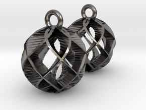 Earring Model T Pair in Polished Nickel Steel