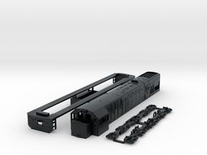 N scale U20c in Black Hi-Def Acrylate