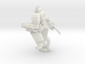 Hoplite pose 3 in White Strong & Flexible