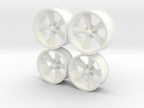 Foose Rims Torque Thrust  1/12 in White Processed Versatile Plastic