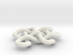 Endless Knot 2 in White Natural Versatile Plastic