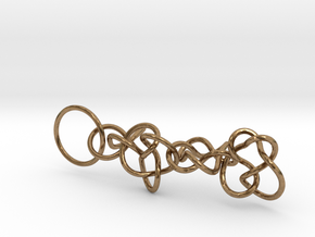 Chain1 in Natural Brass (Interlocking Parts)