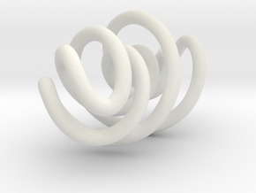 Swirly in White Natural Versatile Plastic
