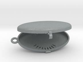 The Oval Locket  (Customizable) in Polished Metallic Plastic