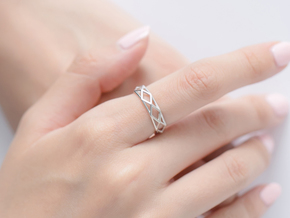 Unique Triangle Ring in Polished Silver