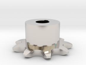 Pignone Per Catena Semplice ISO 05B-1 P8 Z9 in Rhodium Plated Brass