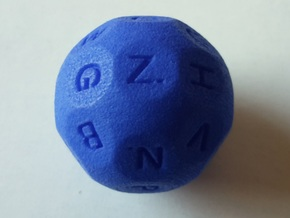 D26 Alphabetical Sphere Dice for Impact! Miniature in Blue Strong & Flexible Polished