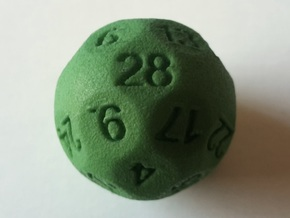 D28 Sphere Dice in Green Strong & Flexible Polished