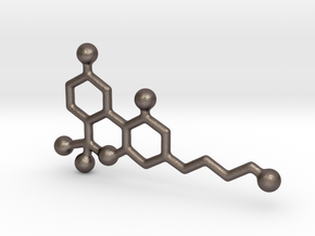 Molecules - Thc in Polished Bronzed Silver Steel