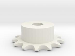 Chain sprocket ISO 05B-1 P8 Z13 in White Natural Versatile Plastic