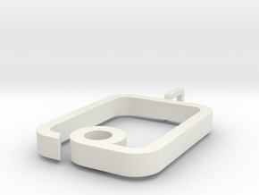 myPad Pendant in White Natural Versatile Plastic