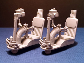 YT1300 DEAGO TURRET WELL SEAT SET 1/43 in Smooth Fine Detail Plastic