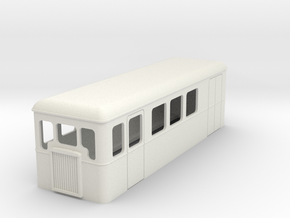 TTn3 single ended railcar with parcel section in White Strong & Flexible