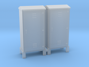Electrical Cabinet With Legs 1-48 Scale   in Smooth Fine Detail Plastic