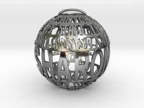 Sharon Quotaball in Polished Silver
