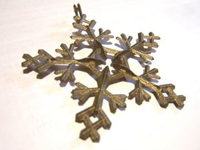 Snow Flake 5 Points - w Loopet - 7cm in White Natural Versatile Plastic