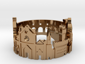 Florence Skyline - Cityscape Ring in Polished Brass: 5 / 49