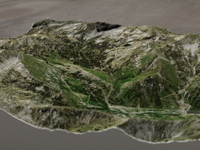 Alta Ski Area, Utah, USA, 1:25000 in Full Color Sandstone