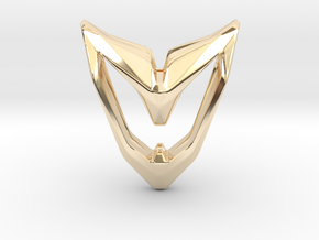 Astronaut, Pendant. Space Chic in 14K Yellow Gold
