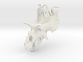 Kosmoceratops Ornament in White Natural Versatile Plastic