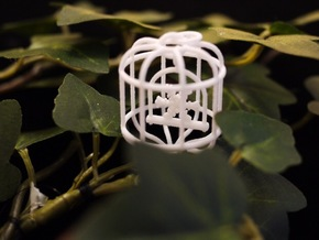 Snowflake Birdcage in White Strong & Flexible
