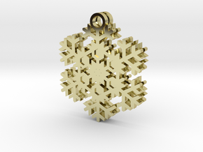 Blizzard Snowflake Earrings in 18k Gold Plated Brass