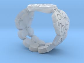 Filigree Swirl Signet Ring in Smooth Fine Detail Plastic