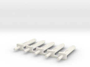 15mm Power Sword x5 in White Natural Versatile Plastic