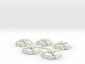 15mm Shield x5 in White Natural Versatile Plastic
