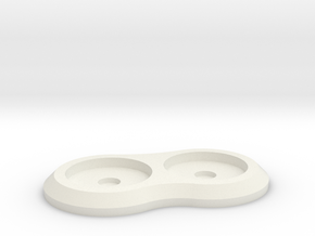 15mm 2-man Mag Tray in White Strong & Flexible
