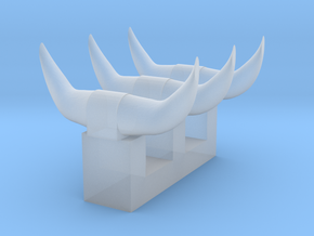 3 sets of short horns in Frosted Ultra Detail