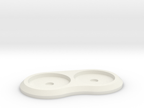 20mm 2-man Mag Tray in White Strong & Flexible