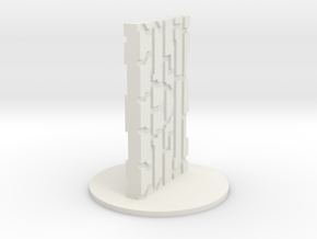 Monolith in White Natural Versatile Plastic