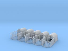 H0 1:87 Kälberhütte mit Umzäunung in Smooth Fine Detail Plastic