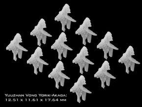 (Armada) 12x Yuuzhan Vong Yorik-Akaga in Frosted Ultra Detail