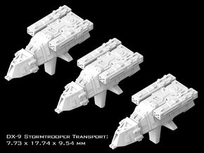 (Armada) 3x DX-9 Stormtrooper Transport in Smooth Fine Detail Plastic