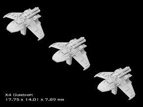 (Armada) 3x X4 Gunship in Frosted Ultra Detail