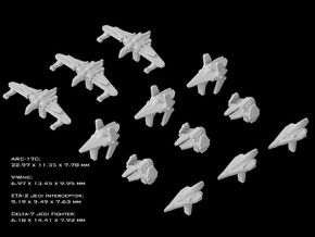 (Armada) Republic Fighters Set I in Frosted Ultra Detail