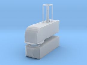 1/24 scale dump Valve W/ Rosenbauer style Swivel in Smooth Fine Detail Plastic