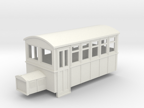 55n9 4 wheeled railbus version 1 in White Strong & Flexible