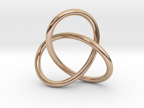 Escher Knot Pendant in 14k Rose Gold Plated Brass