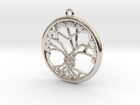 Tree Of Life Pendant in Platinum: Medium