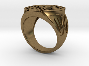 WestWorld maze Ring in Natural Bronze: 7 / 54