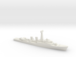 Tribal-class frigate, 1/2400 in White Natural Versatile Plastic