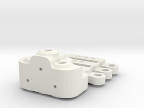 Triple Shot  3 wire steering for Jabber Bikes in White Natural Versatile Plastic