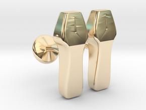 Echo probe in 14k Gold Plated Brass