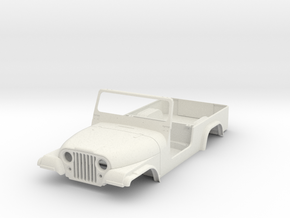 jeep cj8 scramble 1/9 scale in White Strong & Flexible