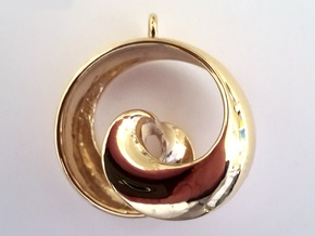 Half Mob-Tor: the half Mobius Torus Shell in 18K Gold Plated