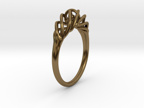 Twisted Ring Sizes 6-13 in Polished Bronze (Interlocking Parts): 6 / 51.5