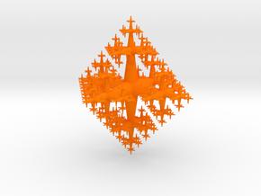 Fractal Tree in Orange Processed Versatile Plastic